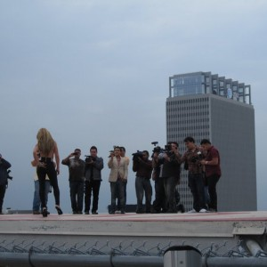 Media Rooftop LA Skyscraper Los Horoscopos de Durango Video Shoot 2011
