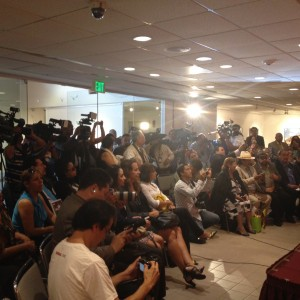Media at mexican consulate for East LA Parade & Festival 2014