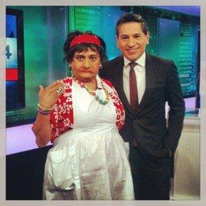 El tenerio Comico on Univision News Primera Edicion 2013